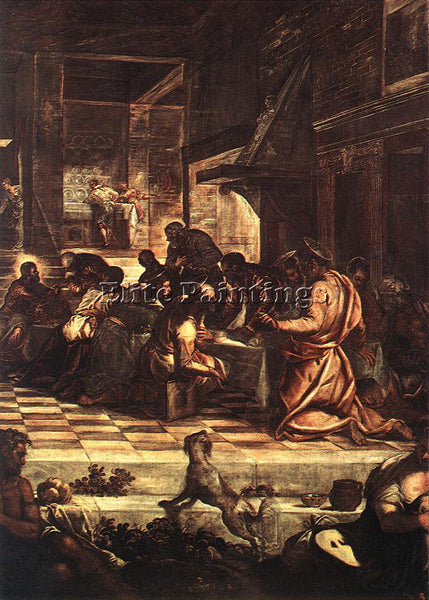 JACOPO ROBUSTI TINTORETTO THE LAST SUPPER DETAIL1 ARTIST PAINTING REPRODUCTION