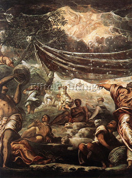 JACOPO ROBUSTI TINTORETTO THE MIRACLE OF MANNA DETAIL ARTIST PAINTING HANDMADE