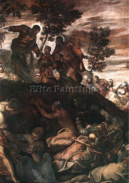 JACOPO ROBUSTI TINTORETTO THE MIRACLE OF THE LOAVES AND FISHES PAINTING HANDMADE
