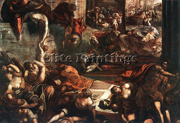 JACOPO ROBUSTI TINTORETTO THE SLAUGHTER OF THE INNOCENTS ARTIST PAINTING CANVAS