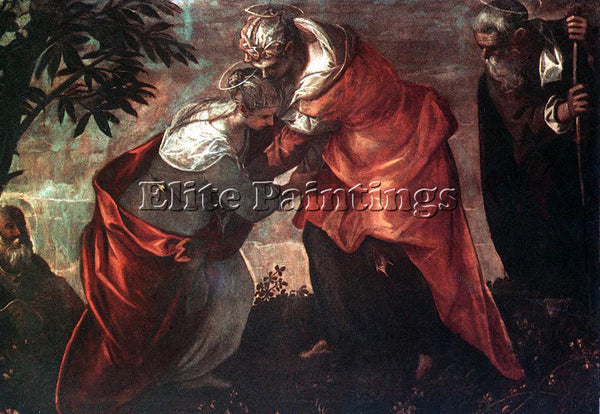JACOPO ROBUSTI TINTORETTO THE VISITATION ARTIST PAINTING REPRODUCTION HANDMADE