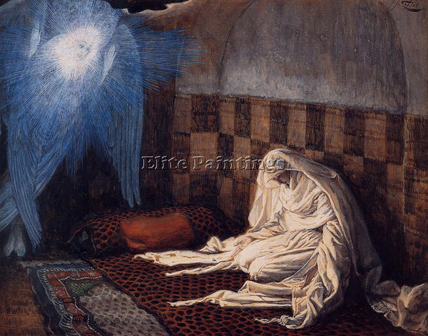 JAMES JACQUES-JOSEPH TISSOT THE ANNUNCIATION ARTIST PAINTING HANDMADE OIL CANVAS