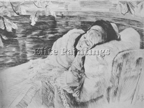 JAMES JACQUES-JOSEPH TISSOT UNE CONVALESCENTE ARTIST PAINTING REPRODUCTION OIL