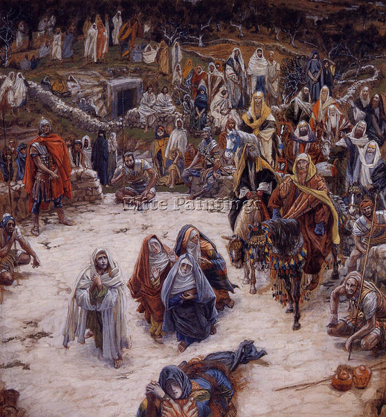 JAMES JACQUES-JOSEPH TISSOT WHAT OUR SAVIOUR SAW FROM THE CROSS ARTIST PAINTING