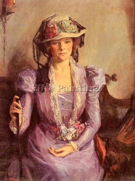 TITCOMB MARY BRADISH THE LADY IN LAVENDER ARTIST PAINTING REPRODUCTION HANDMADE