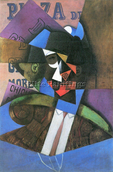 JUAN GRIS TORERO ARTIST PAINTING REPRODUCTION HANDMADE OIL CANVAS REPRO WALL ART