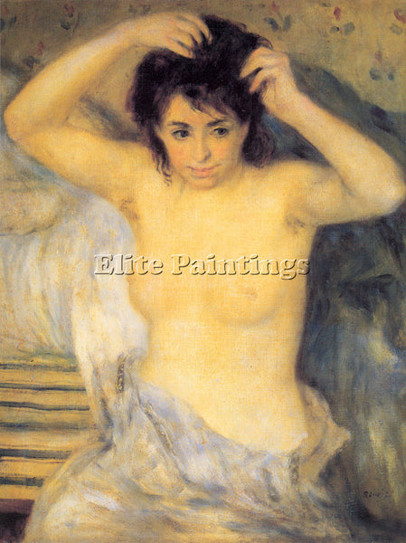 PIERRE AUGUSTE RENOIR TORSO BEFORE THE BATH THE TOILETTE ARTIST PAINTING CANVAS