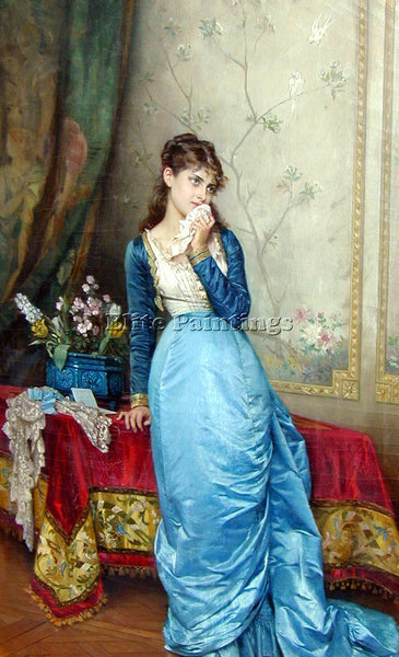 TOULMOUCHE AUGUSTE THE LETTER ARTIST PAINTING REPRODUCTION HANDMADE CANVAS REPRO