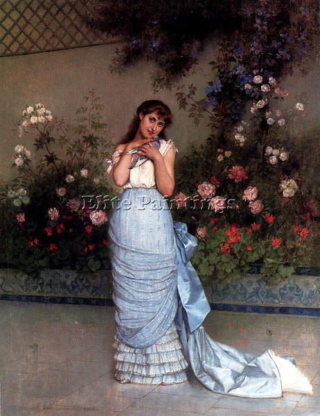 TOULMOUCHE AUGUSTE AN ELEGANT BEAUTY ARTIST PAINTING REPRODUCTION HANDMADE OIL
