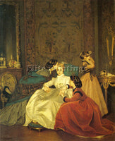 TOULMOUCHE AUGUSTE THE RELUCTANT BRIDE ARTIST PAINTING REPRODUCTION HANDMADE OIL
