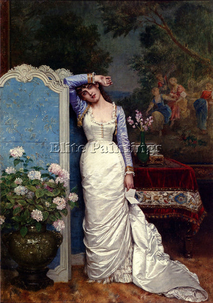 TOULMOUCHE AUGUSTE YOUNG WO ARTIST PAINTING REPRODUCTION HANDMADE OIL CANVAS ART