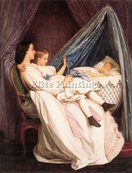 TOULMOUCHE AUGUSTE THE NEW ARRIVAL ARTIST PAINTING REPRODUCTION HANDMADE OIL ART
