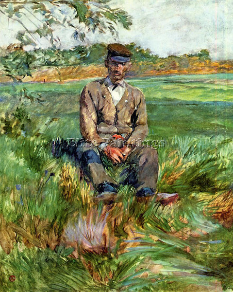 HENRI DE TOULOUSE-LAUTREC A LABORER AT CELEYRAN ARTIST PAINTING REPRODUCTION OIL