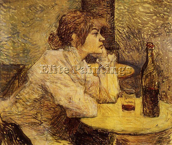 HENRI DE TOULOUSE-LAUTREC HANGOVER AKA THE DRINKER ARTIST PAINTING REPRODUCTION