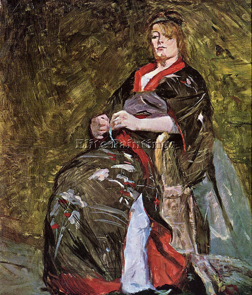 HENRI DE TOULOUSE-LAUTREC LILI GRENIER IN A KIMONO ARTIST PAINTING REPRODUCTION