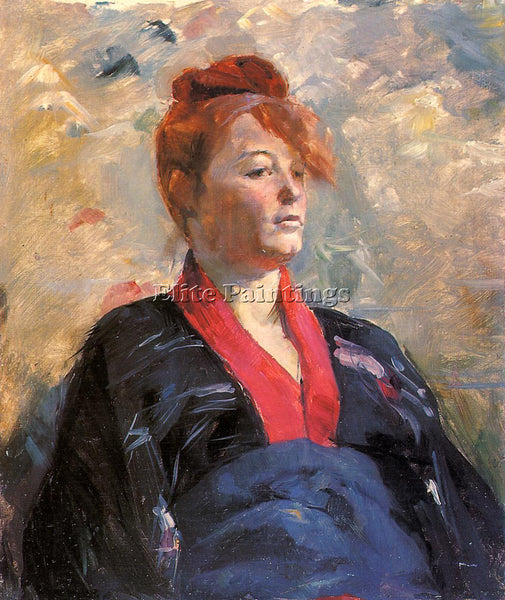 HENRI DE TOULOUSE-LAUTREC MADAME LILI GRENIER ARTIST PAINTING REPRODUCTION OIL