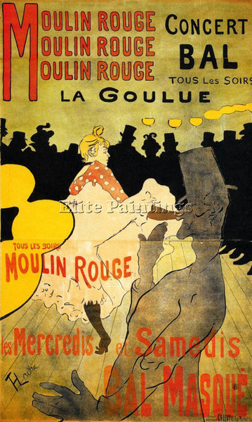 HENRI DE TOULOUSE-LAUTREC MOULIN ROUGE ARTIST PAINTING REPRODUCTION HANDMADE OIL