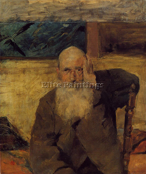 HENRI DE TOULOUSE-LAUTREC OLD MAN AT CELEYRAN ARTIST PAINTING REPRODUCTION OIL