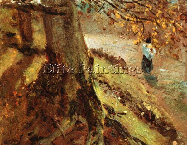 JOHN CONSTABLE TREE TRUNKS ARTIST PAINTING REPRODUCTION HANDMADE OIL CANVAS DECO