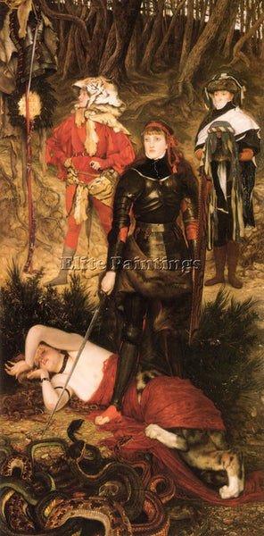 JAMES JACQUES-JOSEPH TISSOT TRIUMPH OF THE WILL THE CHALLENGE PAINTING HANDMADE