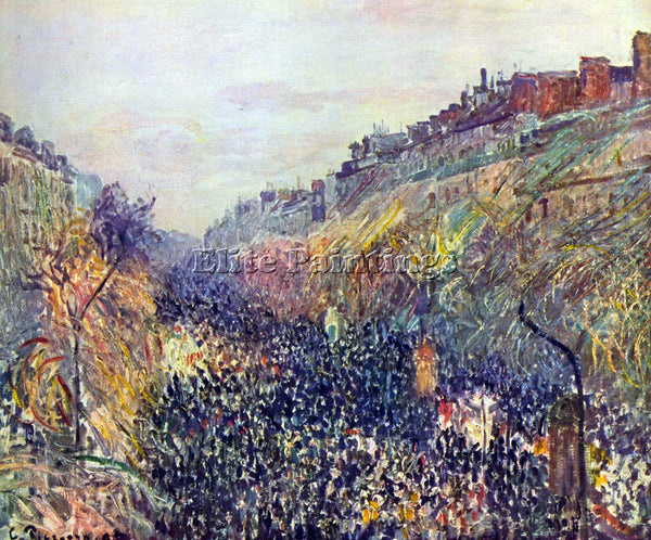 PISSARRO TUESDAY ON THE BOULEVARD MONTMARTRE AT SUNSET ARTIST PAINTING HANDMADE