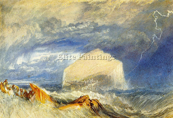 JOSEPH MALLORD WILLIAM TURNER THE BASS ROCK ARTIST PAINTING HANDMADE OIL CANVAS