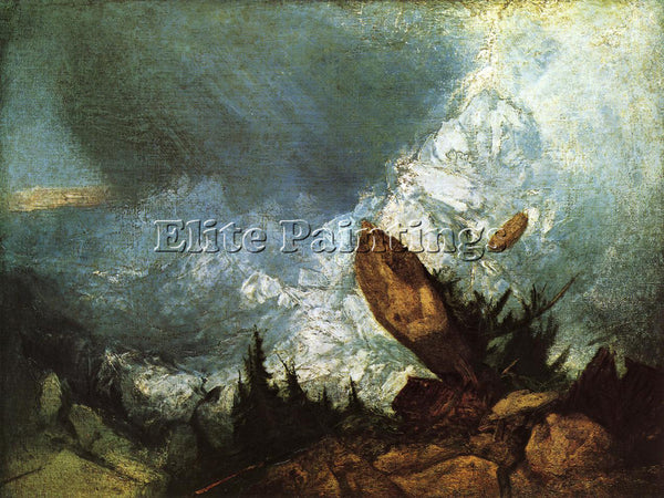 JOSEPH MALLORD WILLIAM TURNER THE FALL OF AN AVALANCHE IN THE GRISONS ARTIST OIL
