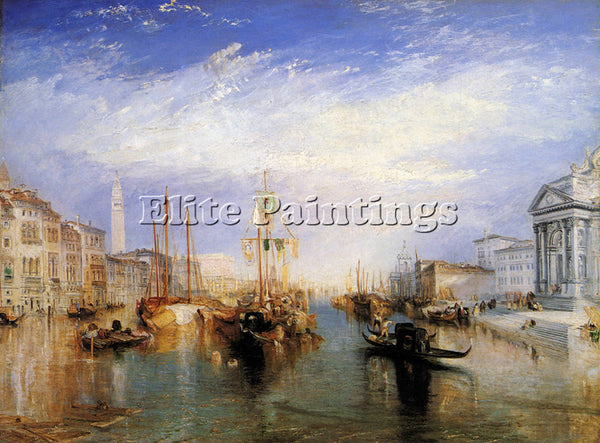 JOSEPH MALLORD WILLIAM TURNER THE GRAND CANAL VENICE ARTIST PAINTING HANDMADE