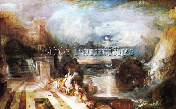 WILLIAM TURNER THE PARTING HERO AND LEANDER FROM GREEK MUSAEUS PAINTING HANDMADE