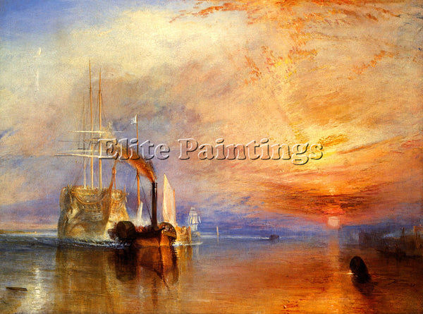 TURNER THE FIGHTING TEMERAIRE TUGGED TO HER LAST BERTH TO BE BROKEN UP PAINTING