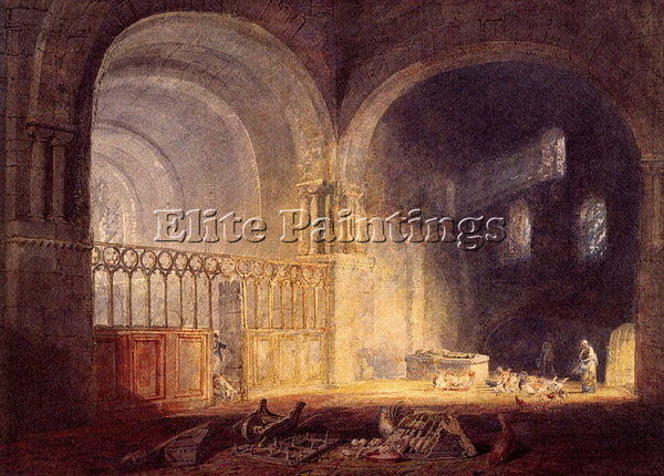 JOSEPH MALLORD WILLIAM TURNER TRANSEPT OF EWENNY PRIJORY GLAMORGANSHIRE PAINTING