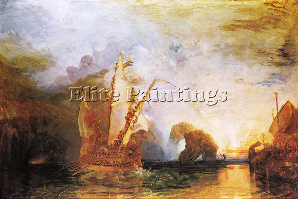 WILLIAM TURNER ULYSSES DERIDING POLYPHEMUS HOMER S ODYSSEY ARTIST PAINTING REPRO