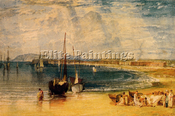 JOSEPH MALLORD WILLIAM TURNER WEYMOUTH DORSETSHIRE ARTIST PAINTING REPRODUCTION
