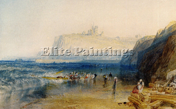 JOSEPH MALLORD WILLIAM TURNER WHITBY ARTIST PAINTING REPRODUCTION HANDMADE OIL