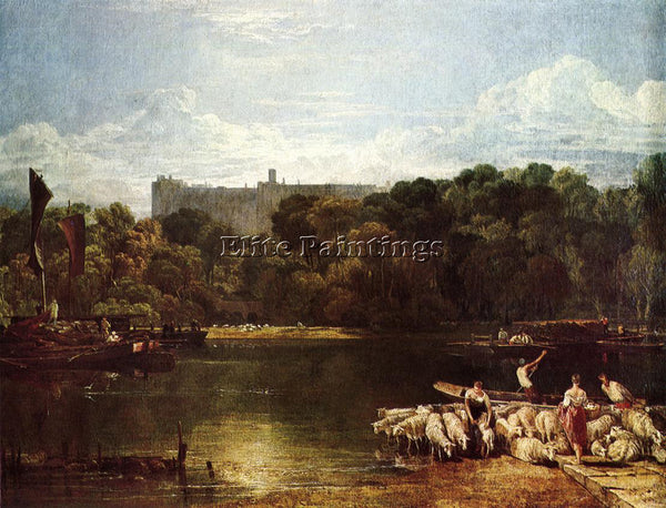 JOSEPH MALLORD WILLIAM TURNER WINDSOR CASTLE FROM THE THAMES ARTIST PAINTING OIL