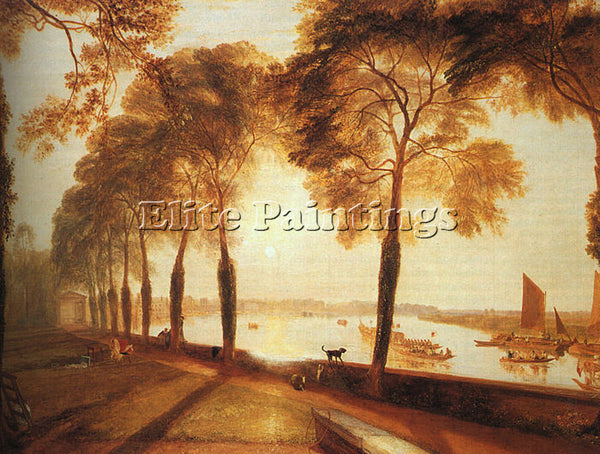 JOSEPH MALLORD WILLIAM TURNER MORTLAKE TERRACE 1826 ARTIST PAINTING REPRODUCTION