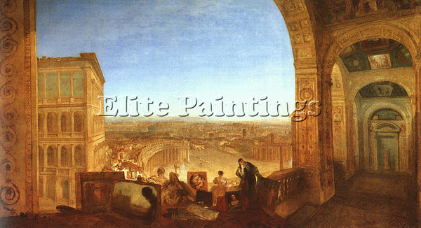 JOSEPH MALLORD WILLIAM TURNER ROME FROM THE VATICAN 1820 ARTIST PAINTING CANVAS