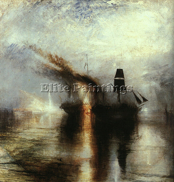JOSEPH MALLORD WILLIAM TURNER SNOWSTORM PEACE BURIAL AT SEA 1842 ARTIST PAINTING