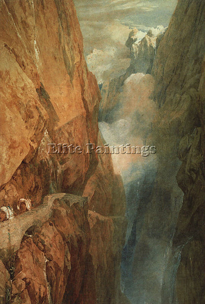 JOSEPH MALLORD WILLIAM TURNER THE PASSAGE OF THE ST GOTHARD 1804 ARTIST PAINTING