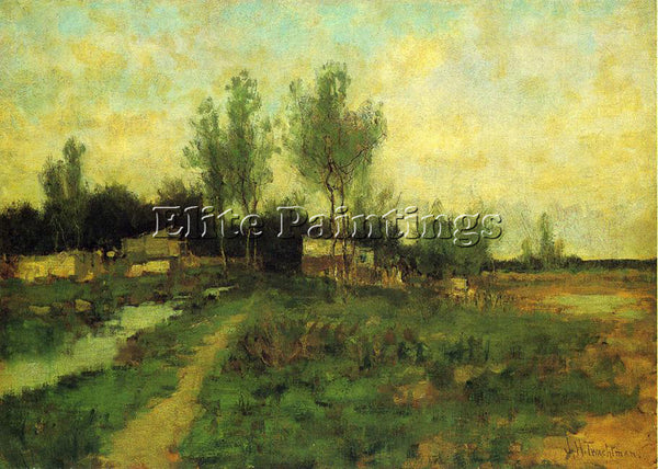 JOHN TWACHTMAN COUNTRY PATH ARTIST PAINTING REPRODUCTION HANDMADE OIL CANVAS ART