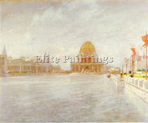 JOHN TWACHTMAN COURT OF HONOR WORLD S COLUMBIAN EXPOSITION ARTIST PAINTING REPRO