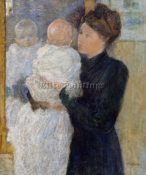 JOHN TWACHTMAN MOTHER AND CHILD ARTIST PAINTING REPRODUCTION HANDMADE OIL CANVAS