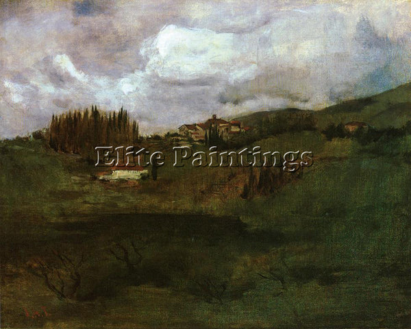 JOHN TWACHTMAN TUSCAN LANDSCAPE ARTIST PAINTING REPRODUCTION HANDMADE OIL CANVAS