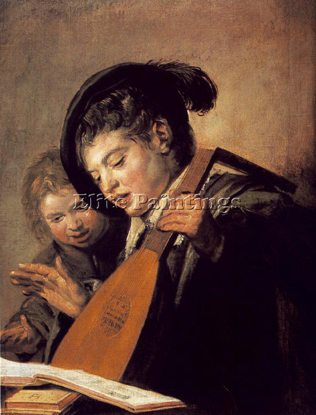 FRANS HALS TWO BOYS SINGING ARTIST PAINTING REPRODUCTION HANDMADE OIL CANVAS ART
