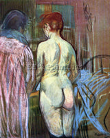 TOULOUSE-LAUTREC TWO GIRLS FROM BEHIND ARTIST PAINTING REPRODUCTION HANDMADE OIL