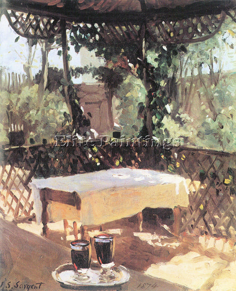 JOHN SINGER SARGENT TWO WINE GLASSES ARTIST PAINTING REPRODUCTION HANDMADE OIL