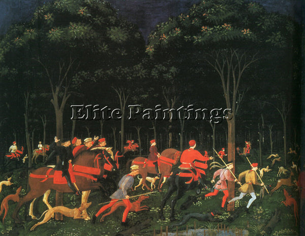 ITALIAN UCELLO PAOLO OR UCCELLO ITALIAN 1395 1475 2 ARTIST PAINTING REPRODUCTION