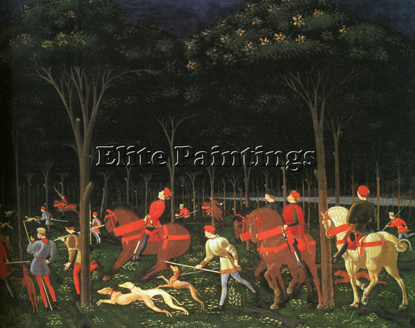 ITALIAN UCELLO PAOLO OR UCCELLO ITALIAN 1395 1475 3 ARTIST PAINTING REPRODUCTION