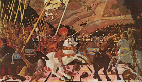 ITALIAN UCELLO PAOLO OR UCCELLO ITALIAN 1395 1475 4 ARTIST PAINTING REPRODUCTION