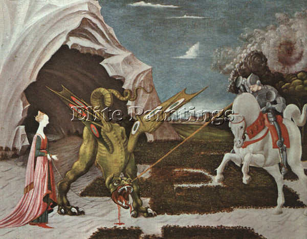 ITALIAN UCELLO PAOLO OR UCCELLO ITALIAN 1395 1475 ARTIST PAINTING REPRODUCTION